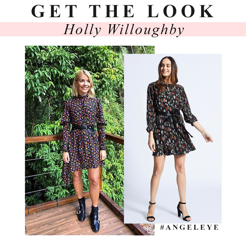 How to Dress like Holly Willoughby Floral Dress ANGELEYE