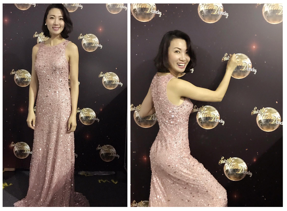 ANGELEYE Strictly come dancing awards final Beautiful pink dress