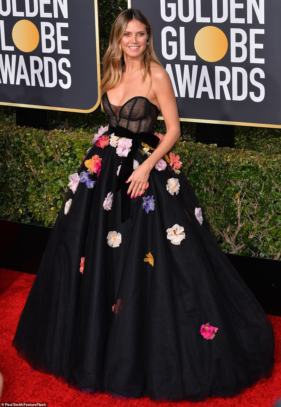 Heidi Klum Golden Globes Dress