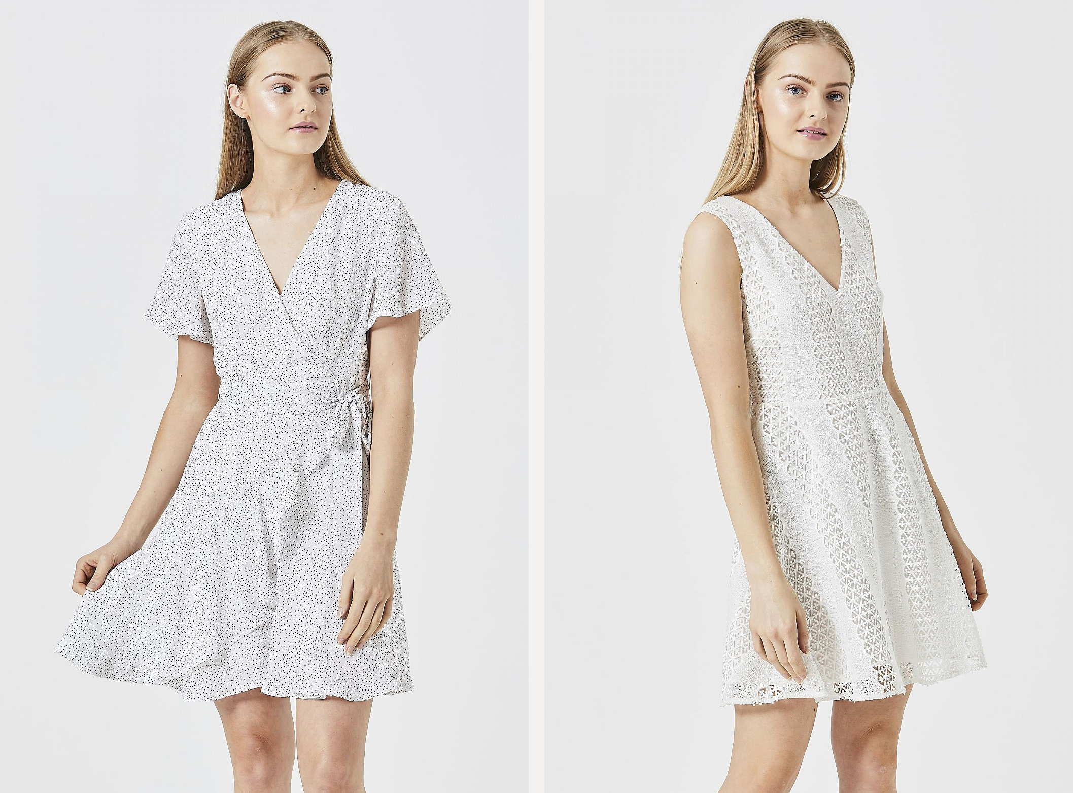 White angeleye fashion dresses