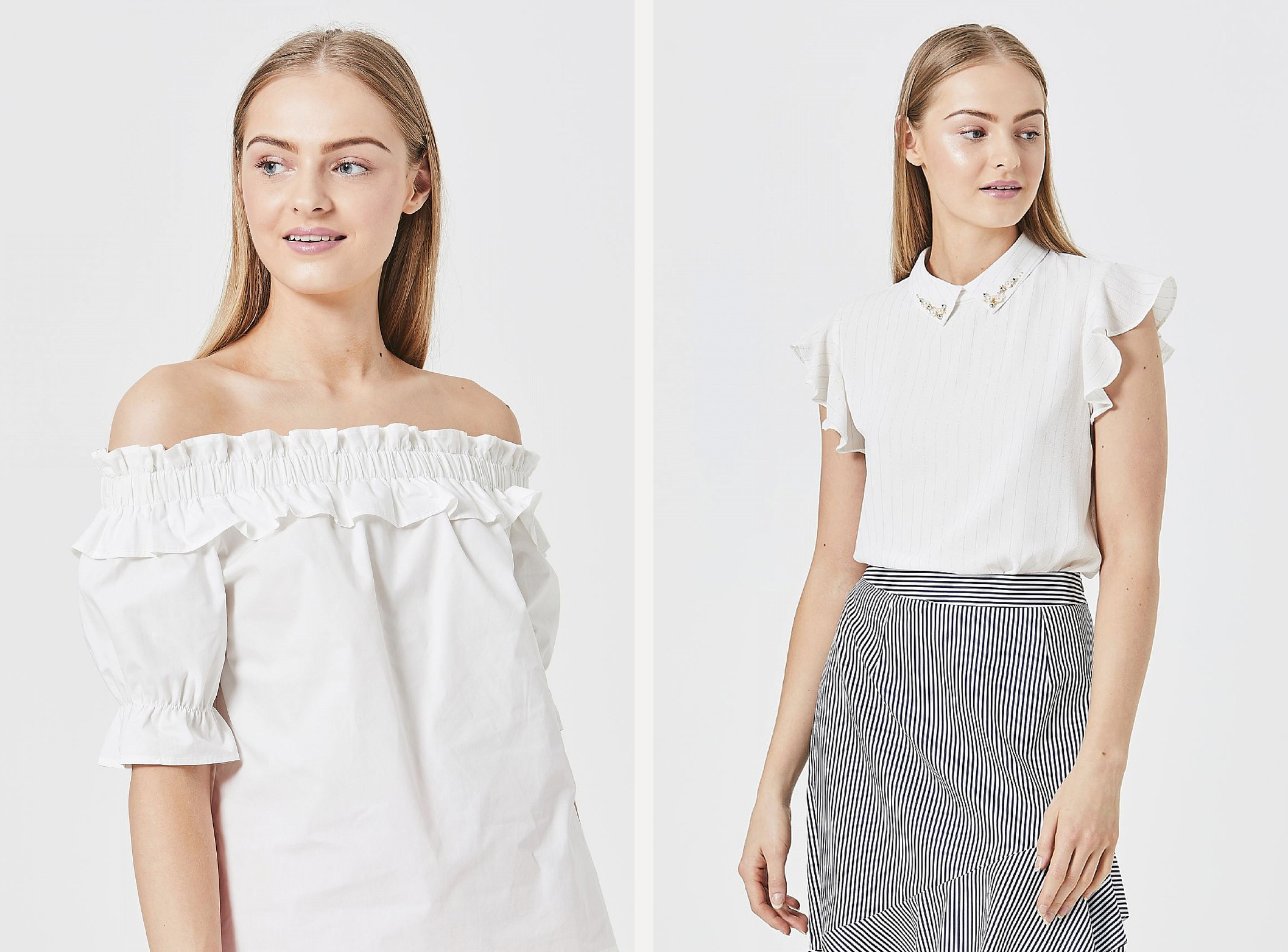 White Angeleye fashion tops