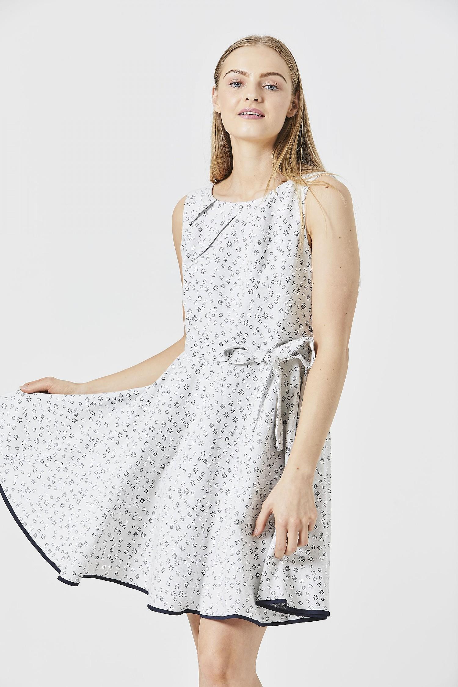 White Embroidery Anglais Floral Mini Dress