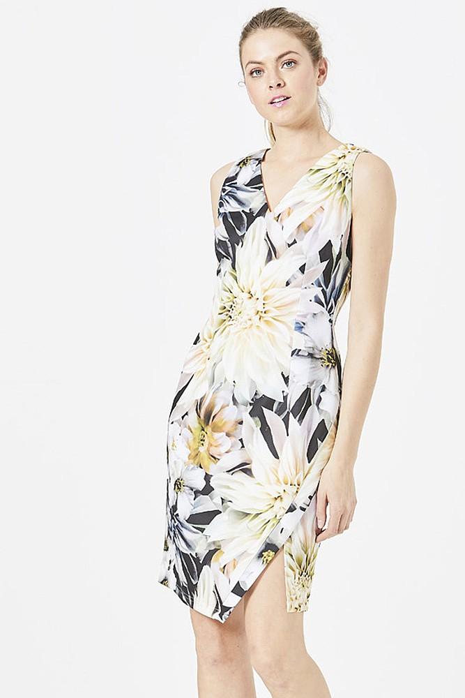 Floral Bodycon Scuba Dress