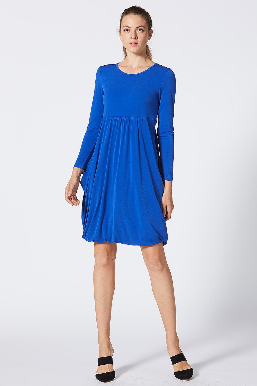 1b48031ef2dd Royal Blue Long Sleeve Jersey Midi Dress