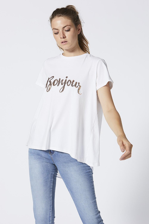 Bonjour White T-shirt