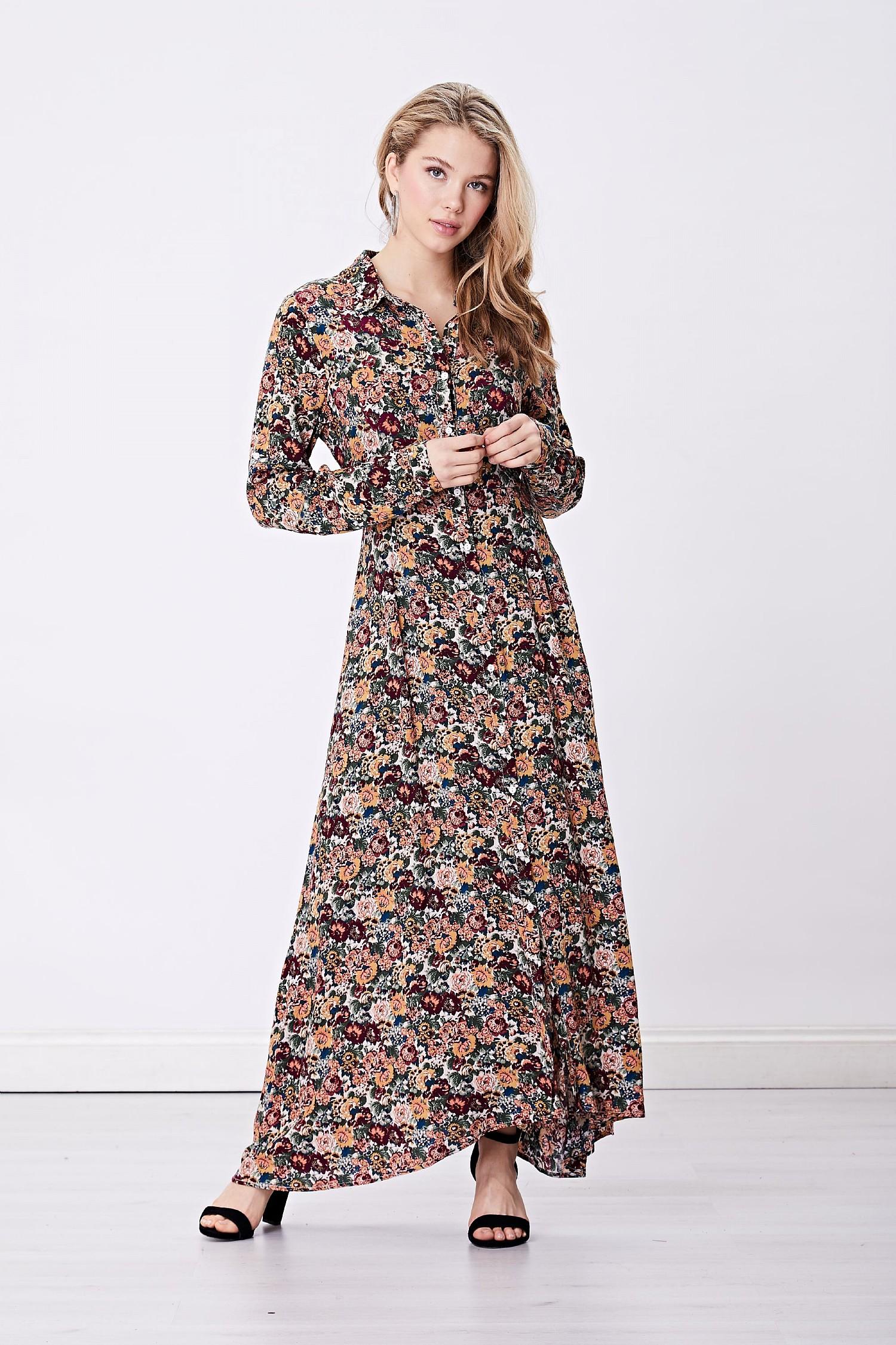 3bd9512d1f3 ANGELEYE Multi Floral Shirt Maxi Dress
