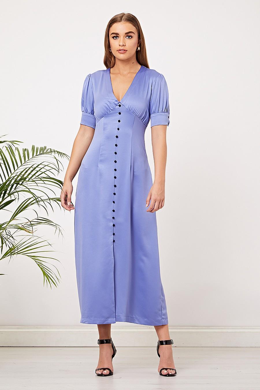 Light Blue Satin Maxi Dress