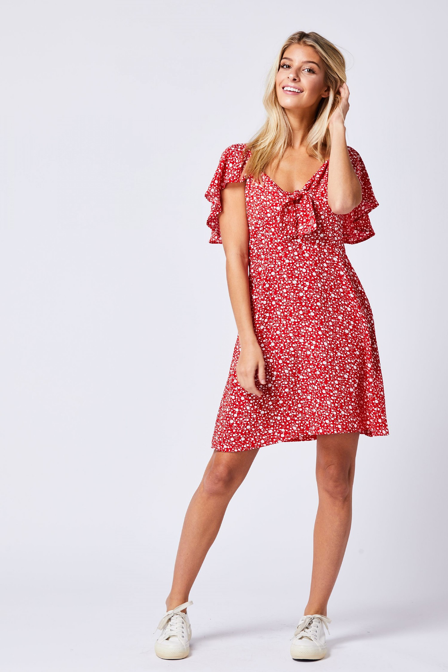 Red Polka Dot Mini Dress