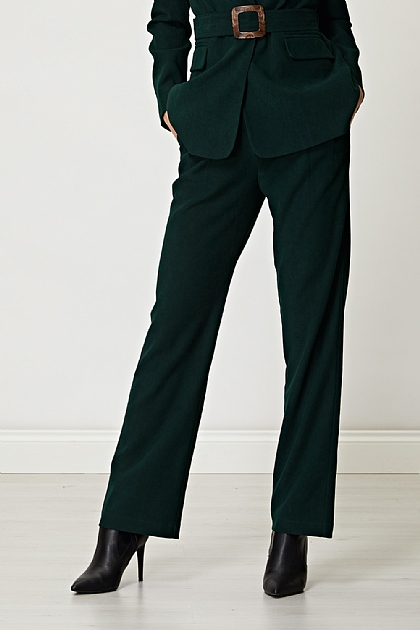 Dark Green Velvet Trousers (Co-ord available)