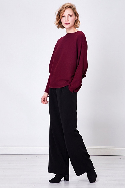 Berry Batwing Crew Neck Knit Jumper