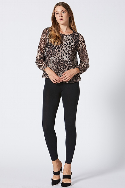 9c38238696 ... Leopard Print Long Sleeve Blouse