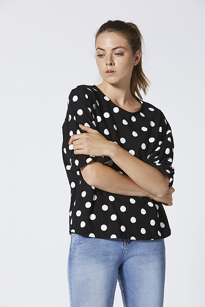 Black and White Polka Dot T-shirt
