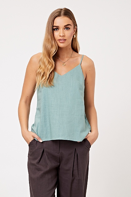 Mint Green Vest Cami Top