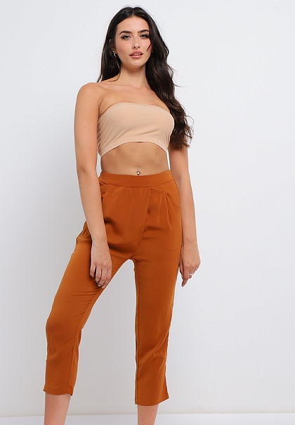 Burnt Orange Tailored Trousers