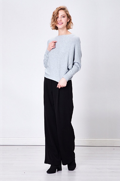 Grey Soft Touch Knitted Long Sleeve Jumper