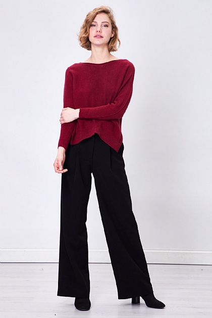 Red Soft Touch Knitted Long Sleeve Jumper
