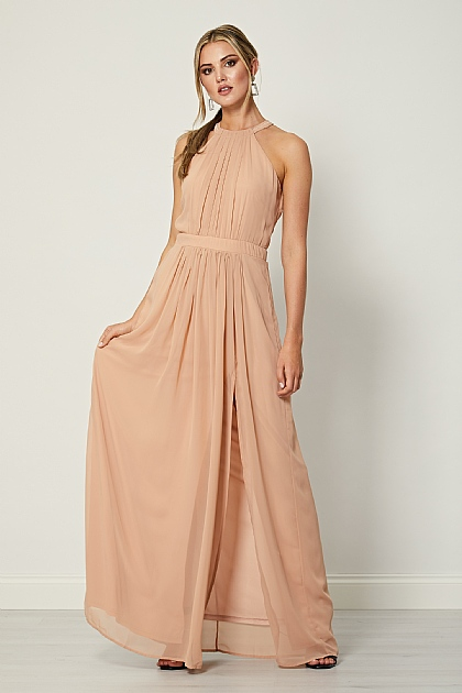 Cameo Rose Halterneck Maxi Dress